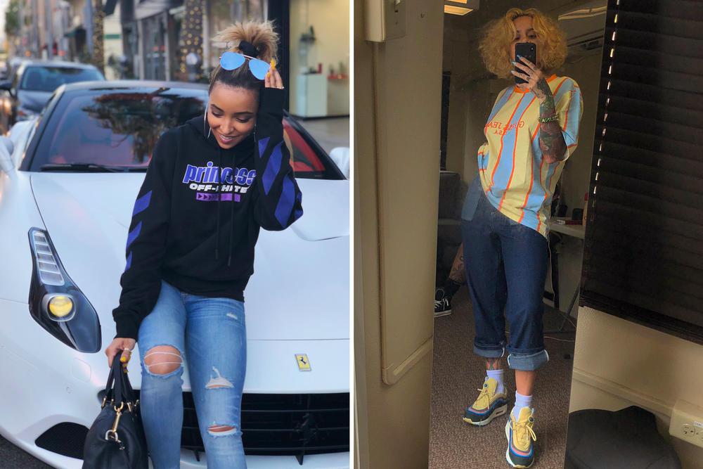 Best Celebrity Style Kehlani Guess Nike Sean Wotherspoon Air Max 1/97 Tinashe Off-White Virgil Abloh Hoodie