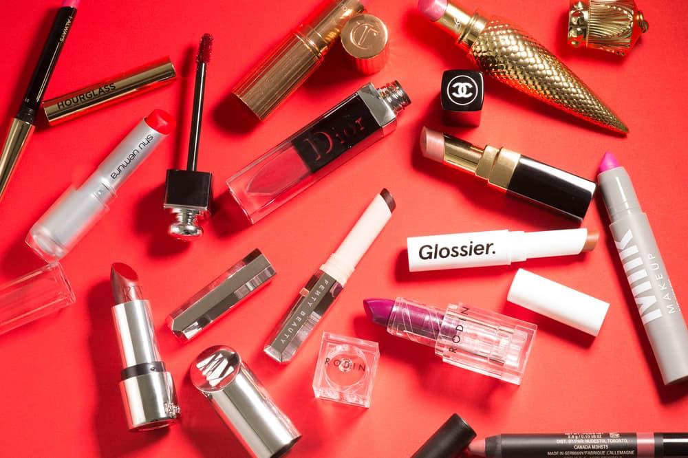 Lipsticks Shu Uemura Christian Louboutin Glossier Chanel Fenty Beauty Charlotte Tilbury Rodin Dior Nudestix Hourglass