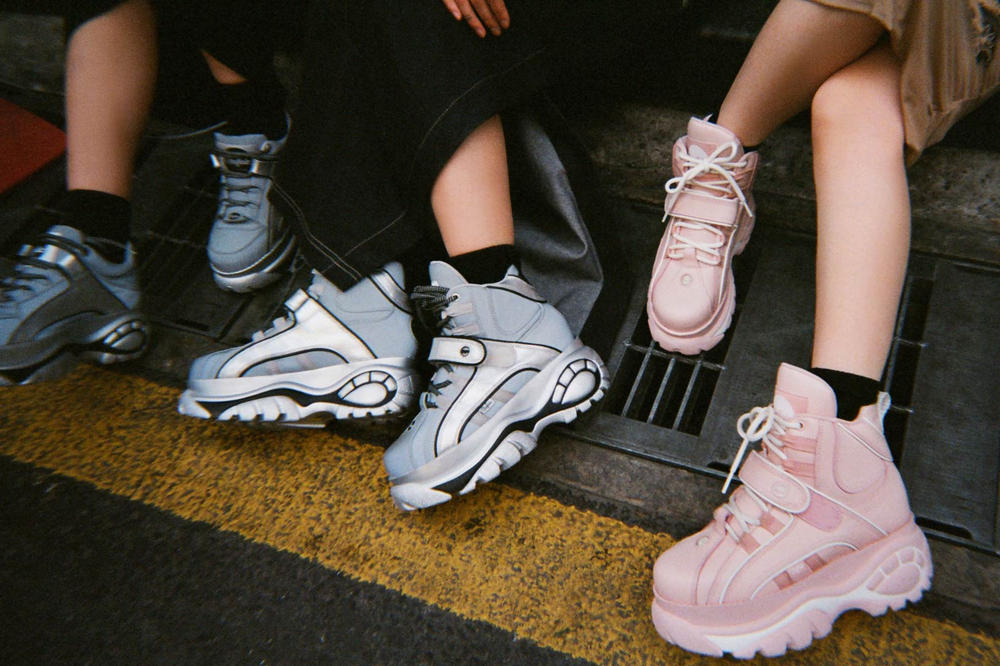 3fd4ad846f2e Take your footwear to new heights. Buffalo London Opening Ceremony Sneakers  Silver Pink