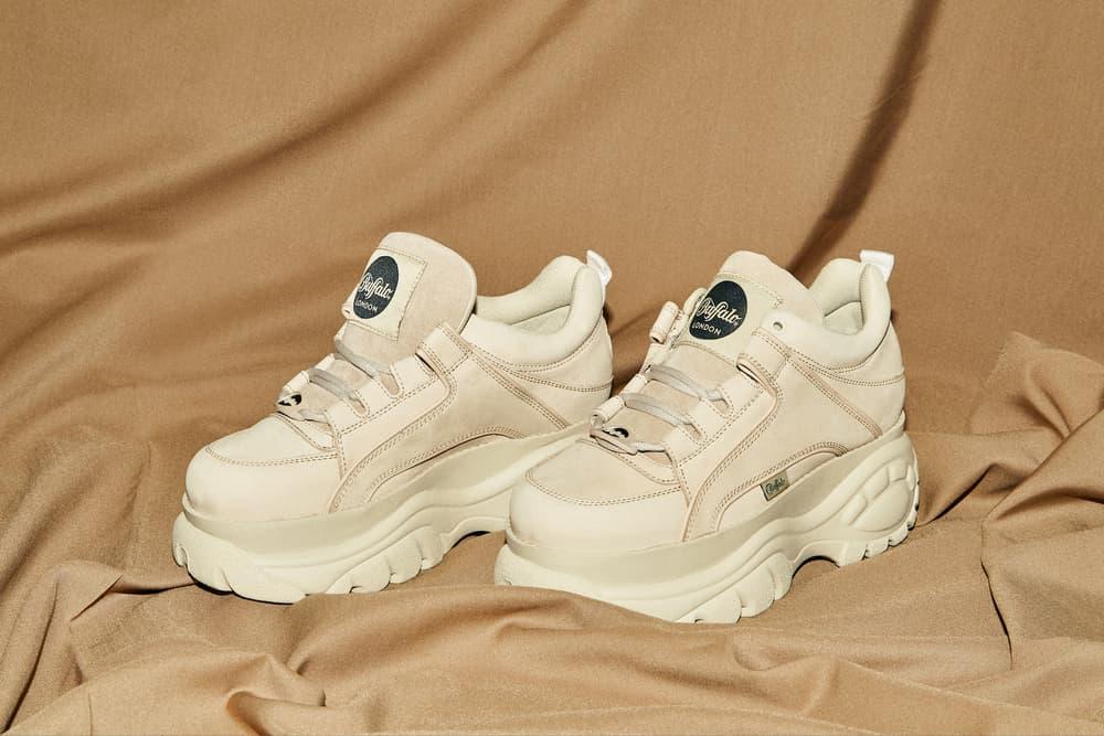 "Buffalo London Platform Sneakers in ""Creme"" Where to buy Buffalo Sneakers 90s Shoe Spice Girls Chunky"