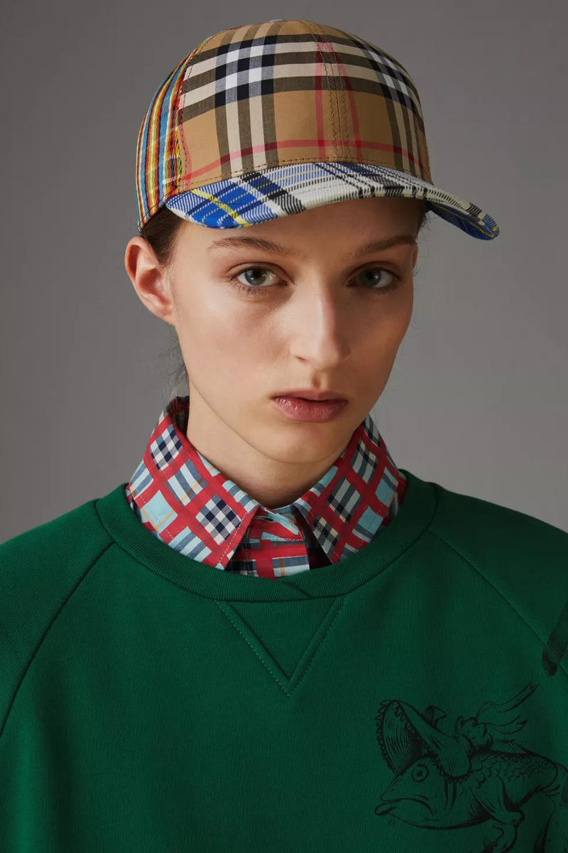 Burberry Patchwork Check Baseball Cap