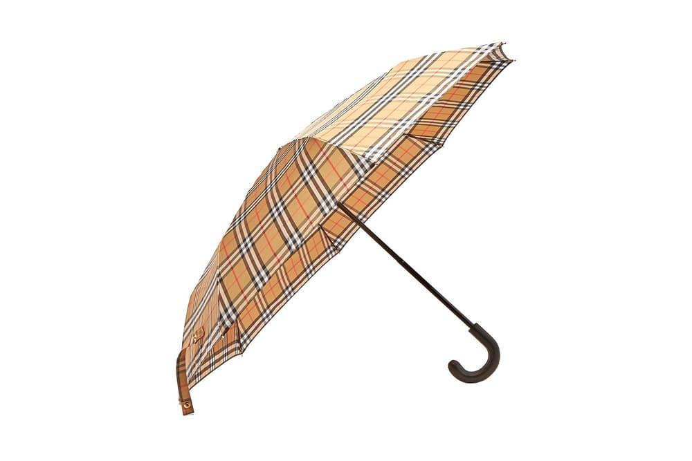 Burberry Vintage Checked Plaid Tartan Umbrella