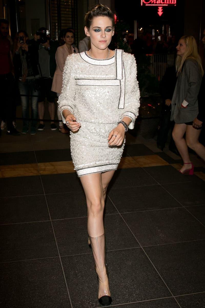 2018 Cannes Film Festival Kristen Stewart Chanel Dress Clear Boots White