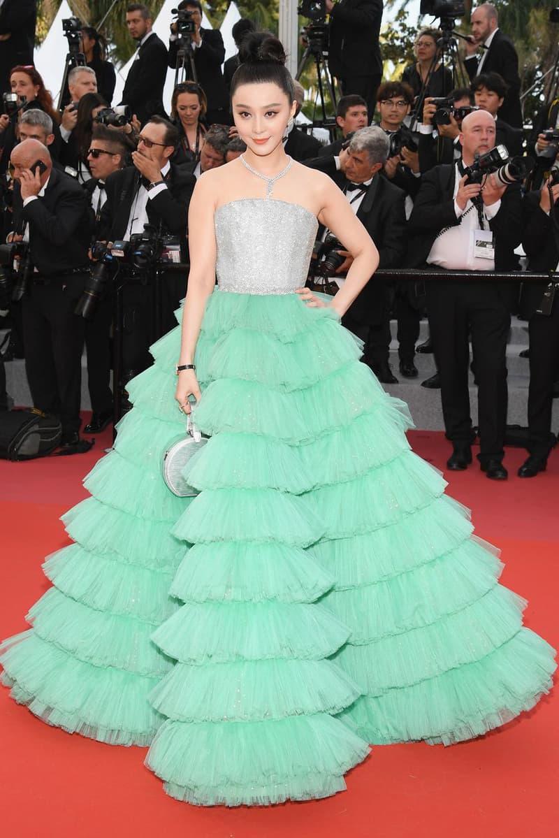 2018 Cannes Film Festival Fan Bing Bing Ali Karoui Haute Couture Silver Blue