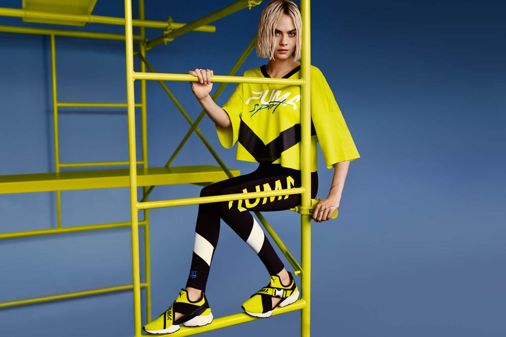 Cara Delevingne PUMA Muse Cut-Out Yellow