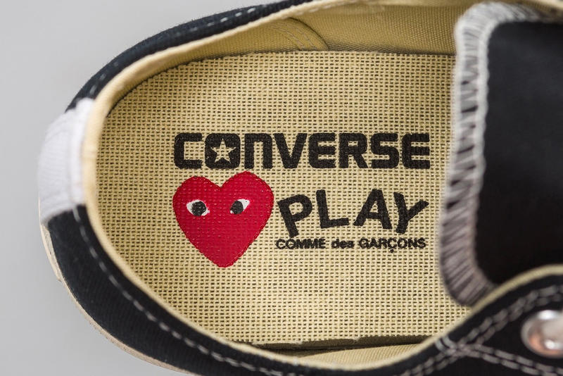 CDG PLAY x Converse Chuck Taylor All Star 70's Comme Des Garcons Sneakers Converse High Top Low Top White Black Heart Logo