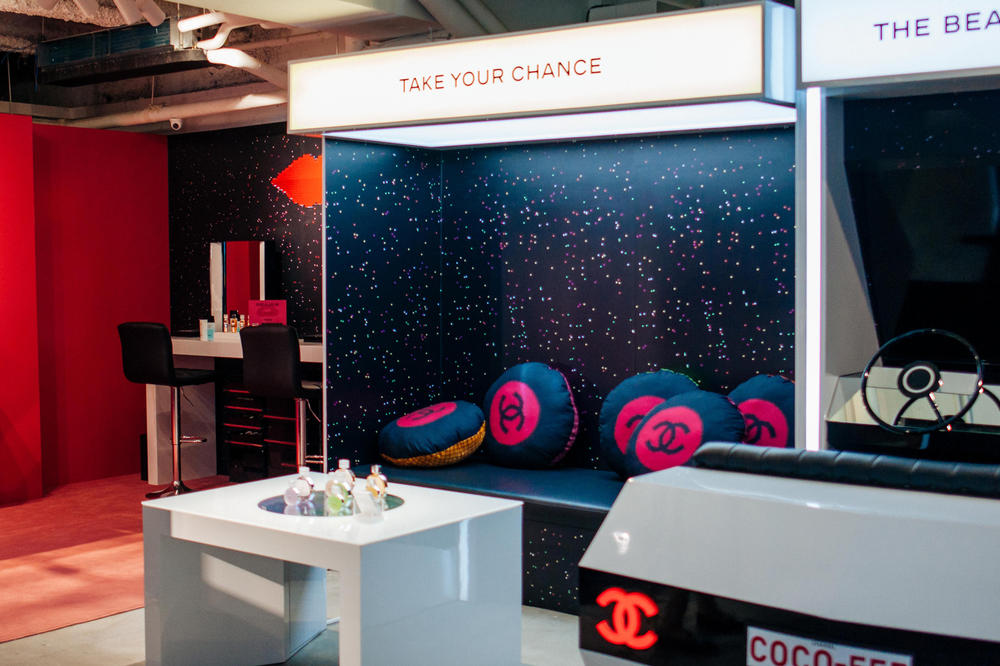 Chanel Beauty Hong Kong Coco Game Center Makeup Stations