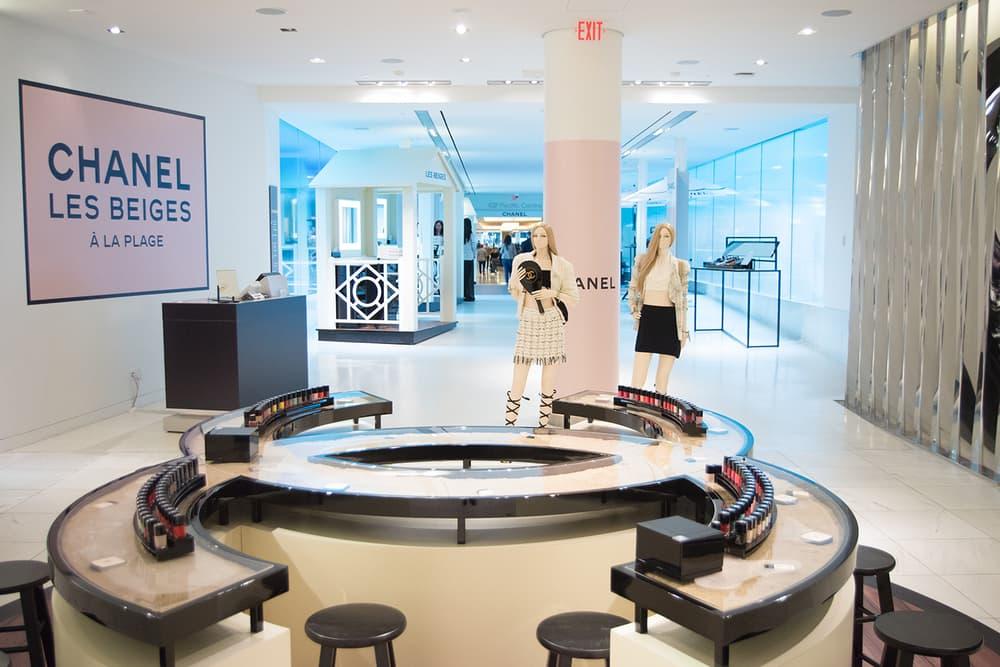 Chanel Beauty Lipsticks LES BEIGES À LA PLAGE Vancouver Pop-Up Store Makeup Holt Renfrew Nail Beauty Bar