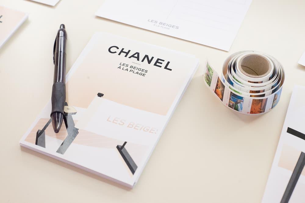 Chanel Beauty Lipsticks LES BEIGES À LA PLAGE Vancouver Pop-Up Store Makeup Holt Renfrew Postcard Stamps