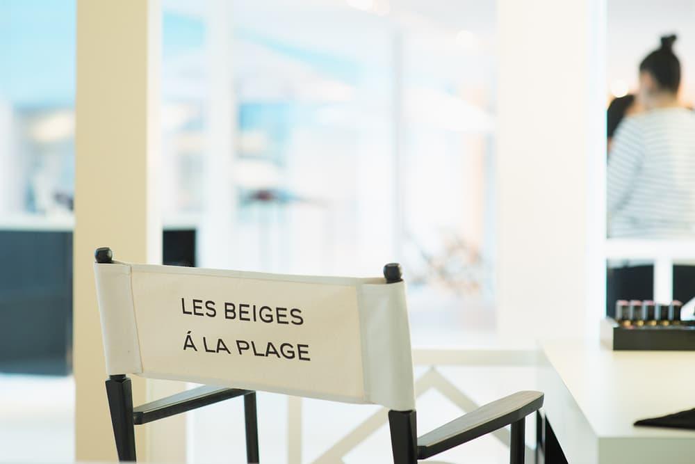 Chanel Beauty Lipsticks LES BEIGES À LA PLAGE Vancouver Pop-Up Store Makeup Holt Renfrew Lounge Chair