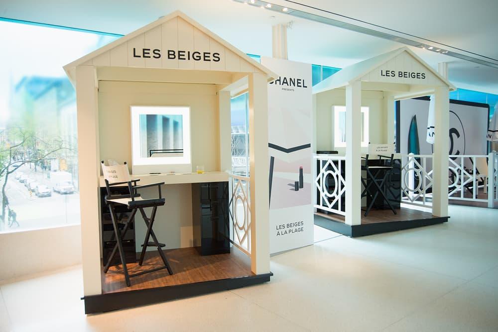 Chanel Beauty Lipsticks LES BEIGES À LA PLAGE Vancouver Pop-Up Store Makeup Holt Renfrew