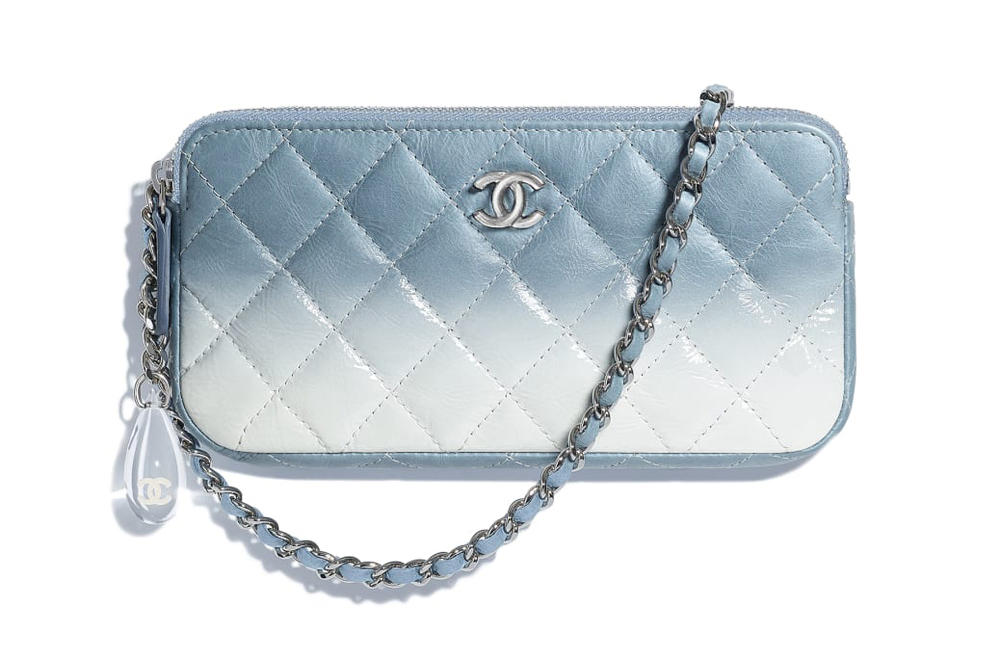 Chanel Pastel Pink Green Blue Ombré Clutch Purses 43c8eec6a40c0