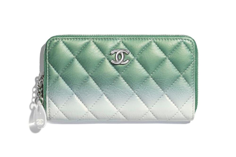 Chanel Pastel Pink Green Blue Ombré Clutch Purses