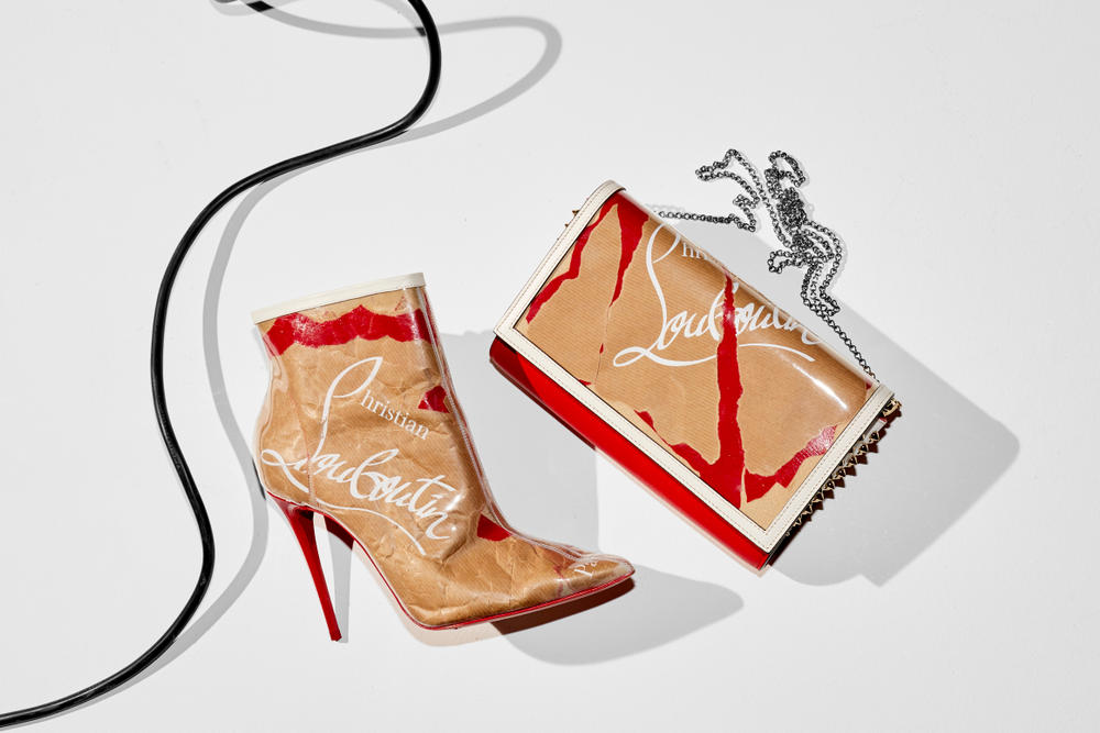 Christian Louboutin Loubicraft Collection mytheresa exclusive Capsule Collection Red Bottoms Paper Bag Recycled