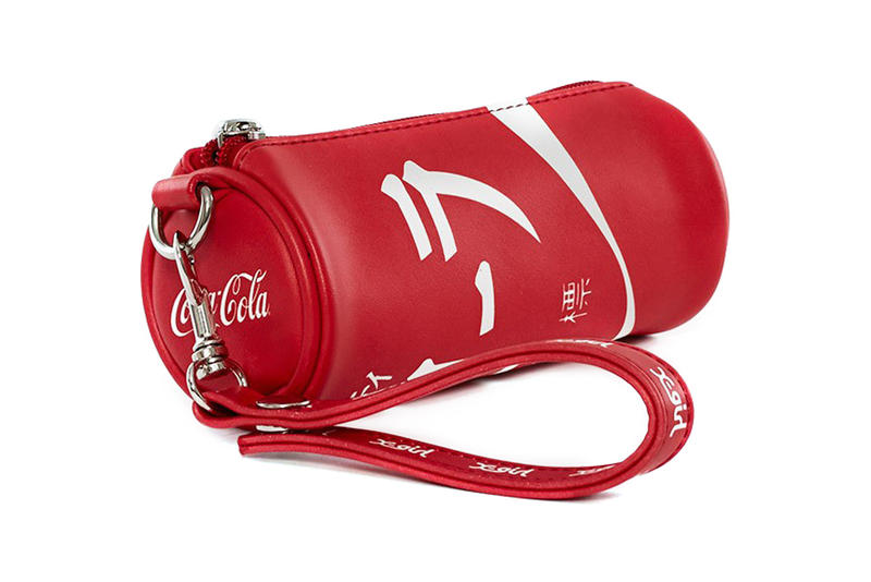 Coca-Cola x X-Girl Faux Leather Pouch Red