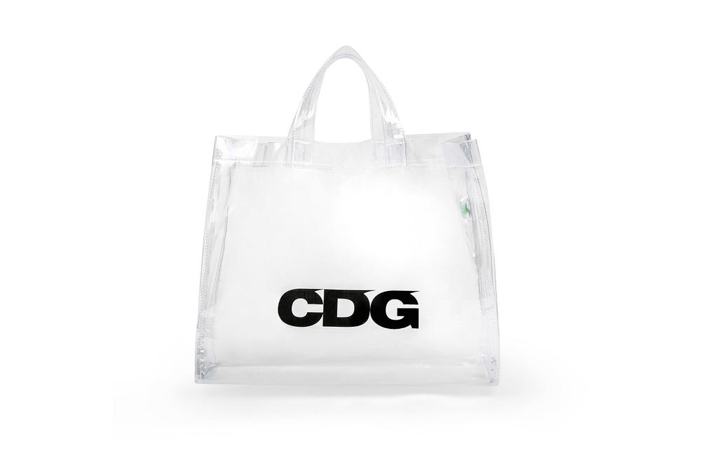 COMME des GARÇONS Logo Plastic Tote Bag 2018 Transparent See-Through PVC
