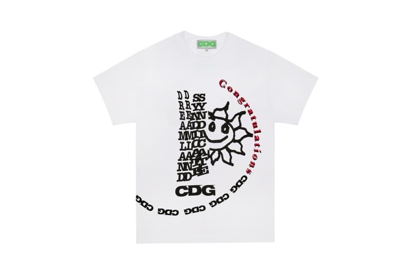 COMME des GARÇONS Breaking News CDG T Shirt White