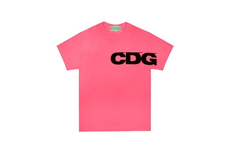 COMME des GARÇONS Breaking News CDG T Shirt Pink