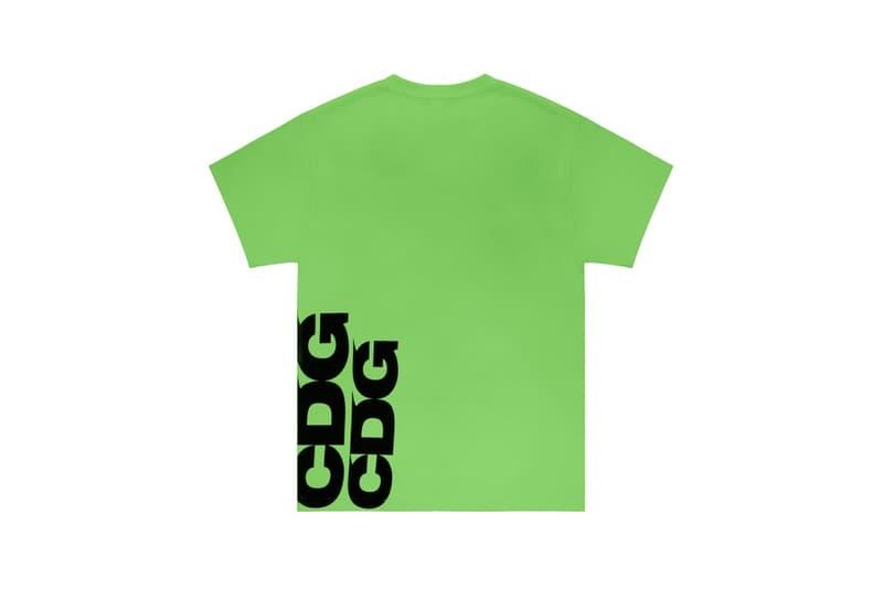 COMME des GARÇONS Breaking News CDG T Shirt Green Logo