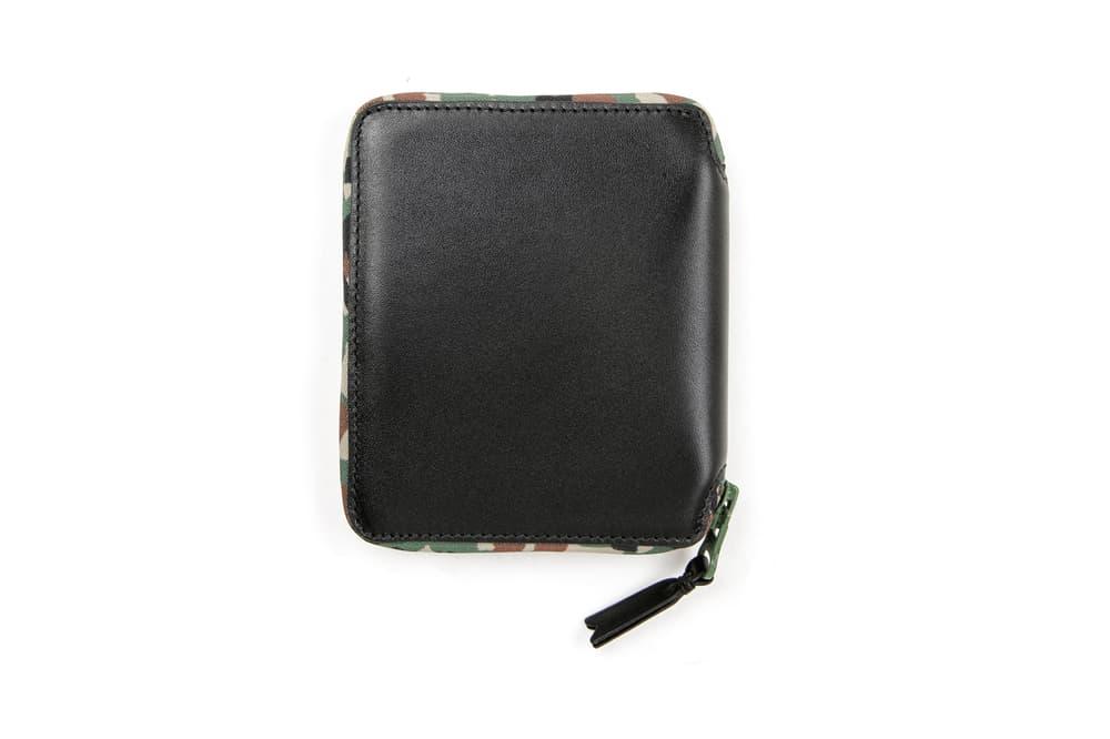 COMME des GARÇONS Leather Wallet Black Camouflage