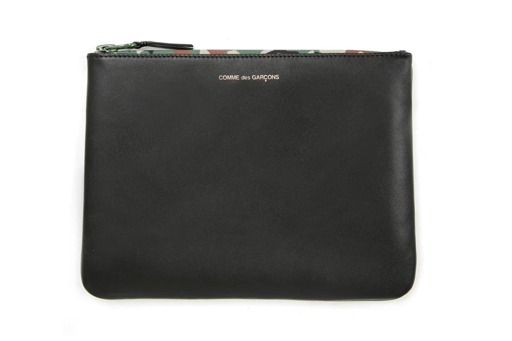 COMME des GARÇONS Leather Pouch Black Camouflage
