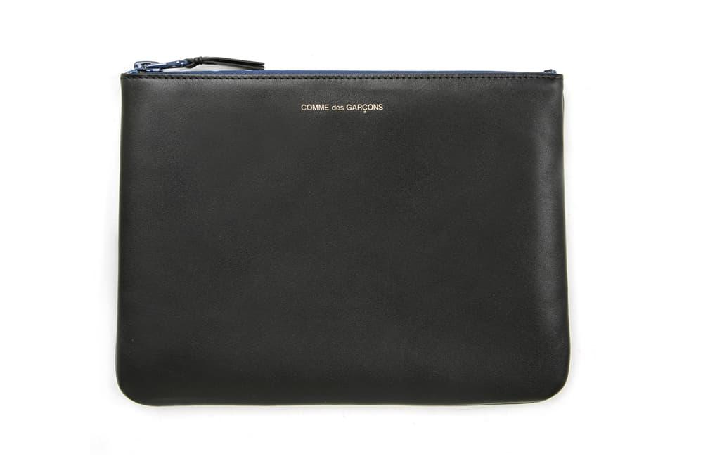 COMME des GARÇONS Leather Pouch Black Blue