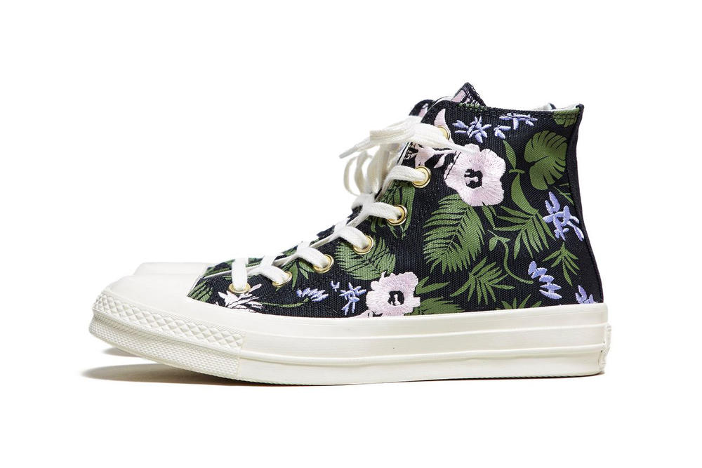 db6211584e6360 Converse Chuck Taylor All Star 70 Floral Palm Leaf Print Embroidered  Women s Sneakers