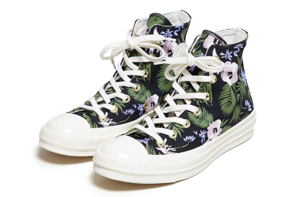 Converse Chuck Taylor All Star 70 Floral Palm Leaf Print Embroidered Women's Sneakers