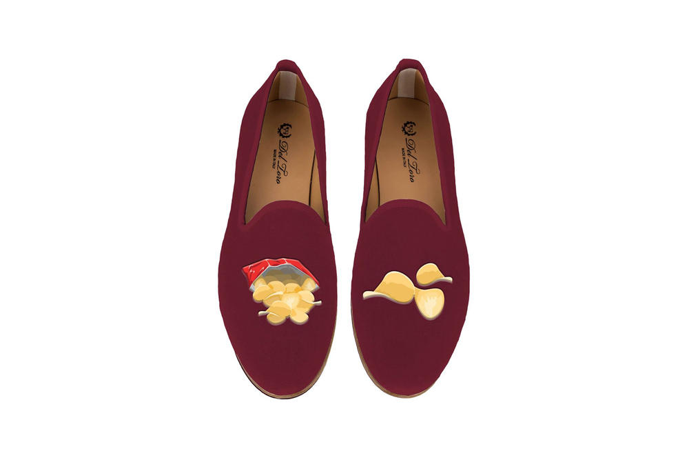 Del Toro Foodies Collection Moda Operandi Potato Chips Slipper Burgundy
