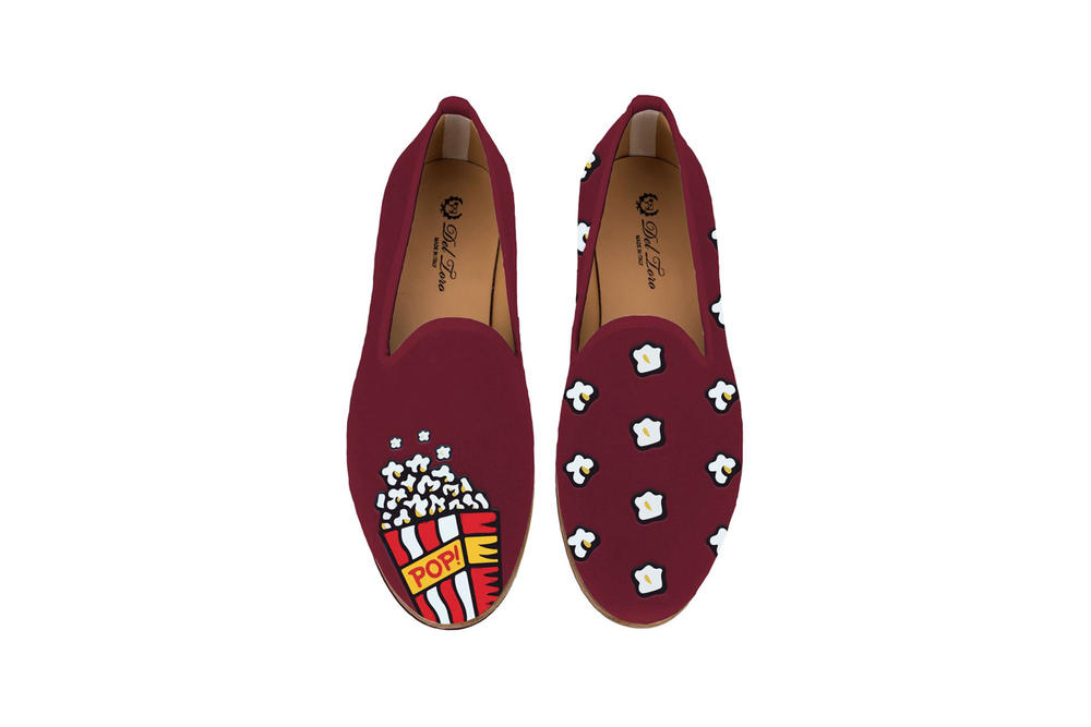 Del Toro Foodies Collection Moda Operandi Popcorn Slipper Burgundy