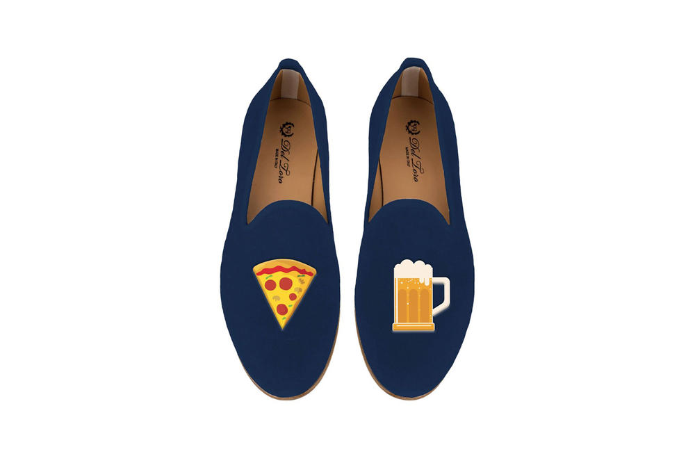 Del Toro Foodies Collection Moda Operandi Beer & Pizza Slipper Navy