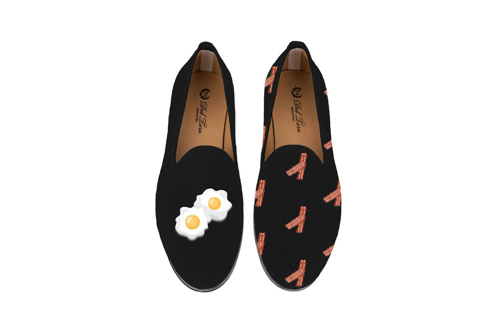 Del Toro Foodies Collection Moda Operandi Bacon & Eggs Slipper Black