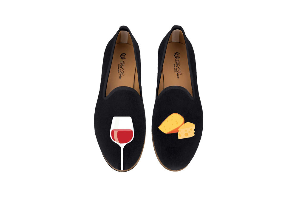 Del Toro Foodies Collection Moda Operandi Cheese & Wine Slipper Black