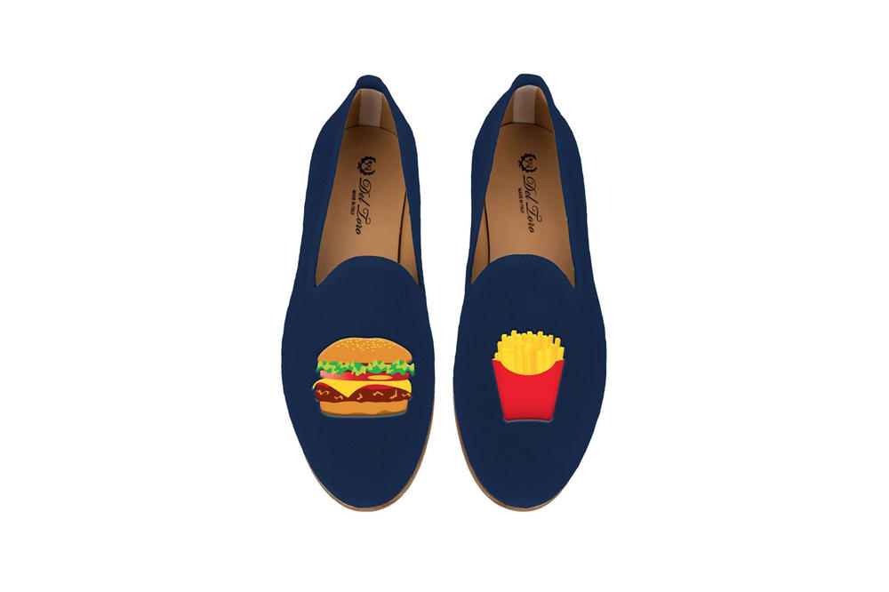 Del Toro Foodies Collection Moda Operandi Burger & Fries Slipper Navy