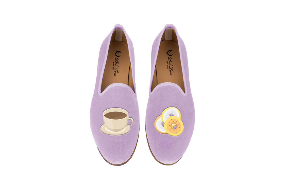 Del Toro Foodies Collection Moda Operandi Bagel & Coffee Slipper Purple