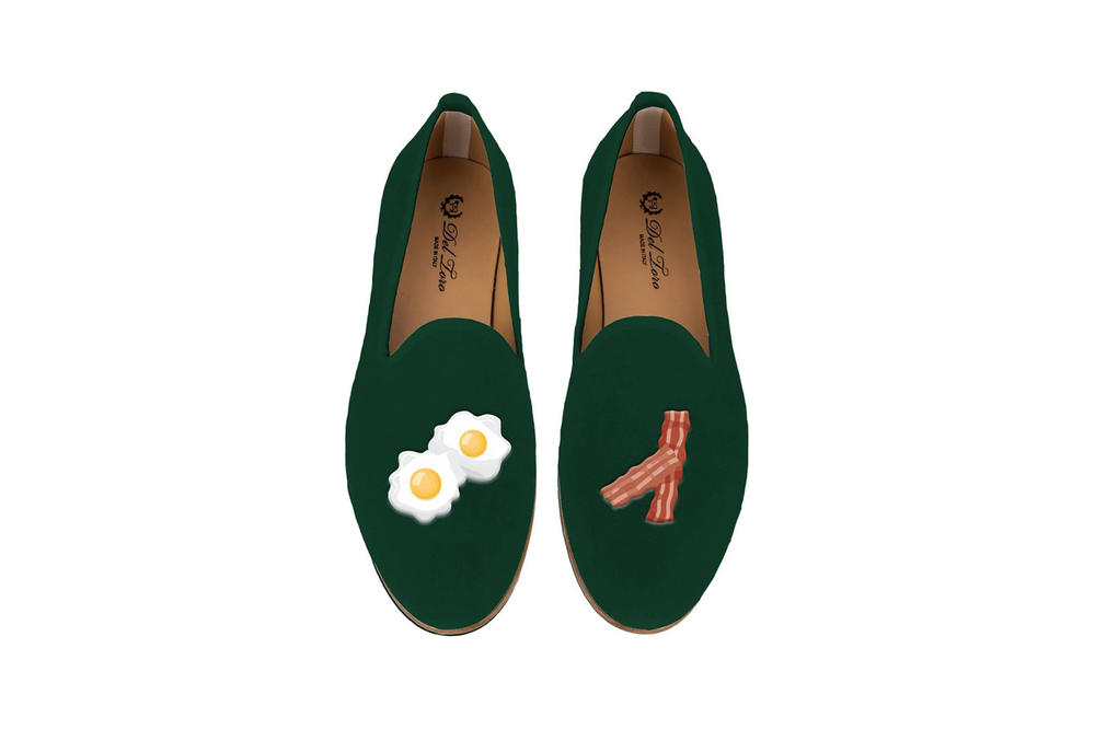 Del Toro Foodies Collection Moda Operandi Bacon & Eggs Slipper Green