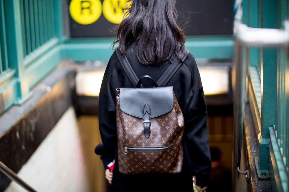 1769c25c5151 Girl Wearing Louis Vuitton Backpack New York City