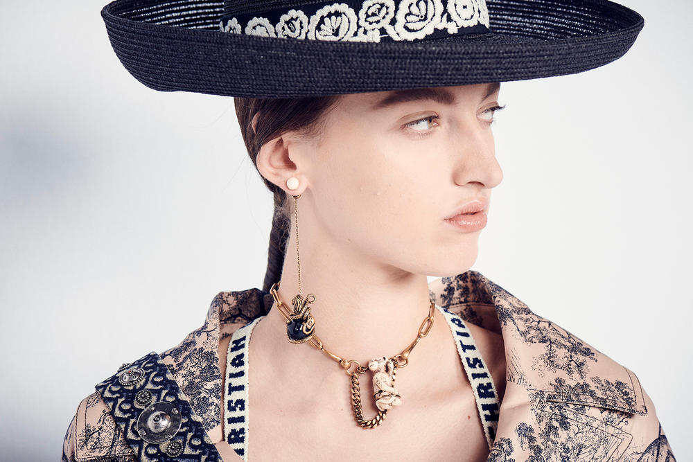 Dior Cruise 2019 Resort Runway Backstage Earring Hat Necklace