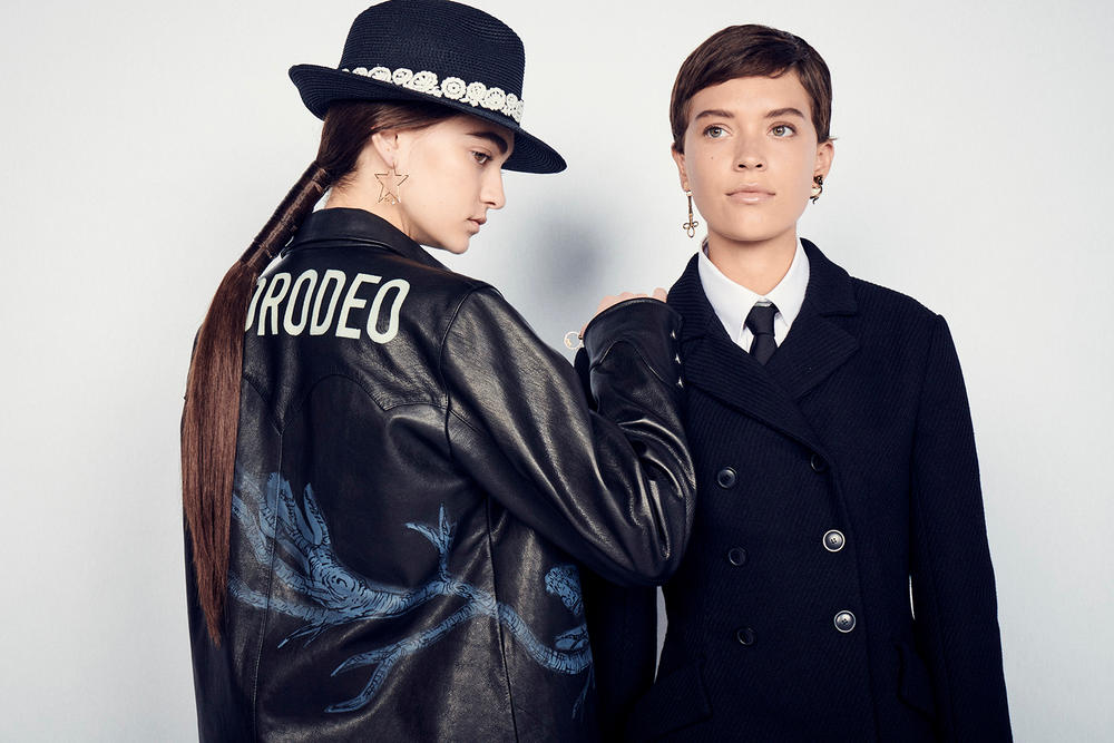 Dior Cruise 2019 Resort Runway Backstage Earring Hat Leather Jacket