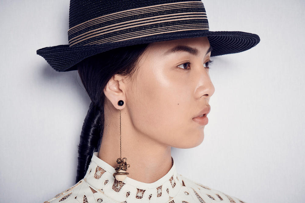 Dior Cruise 2019 Resort Runway Backstage Earring Hat