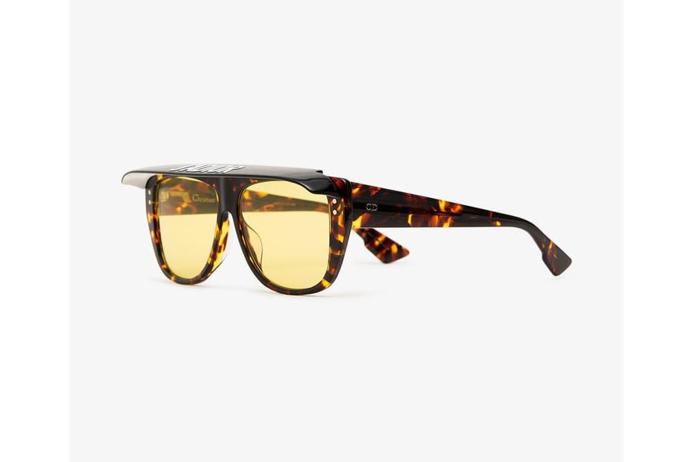 Dior Tortoiseshell Visor Acetate Retro Sunglasses