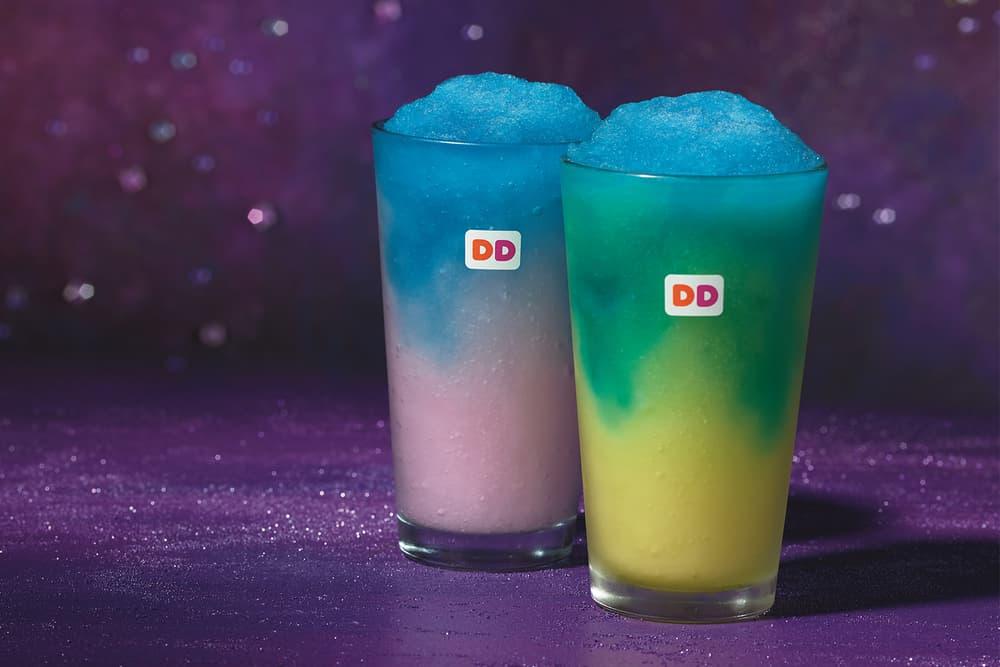 Dunkin' Donuts Galaxy Menu Cosmic Cotton Candy Coolatta Pineapple Coolatta Comet Candy Donut
