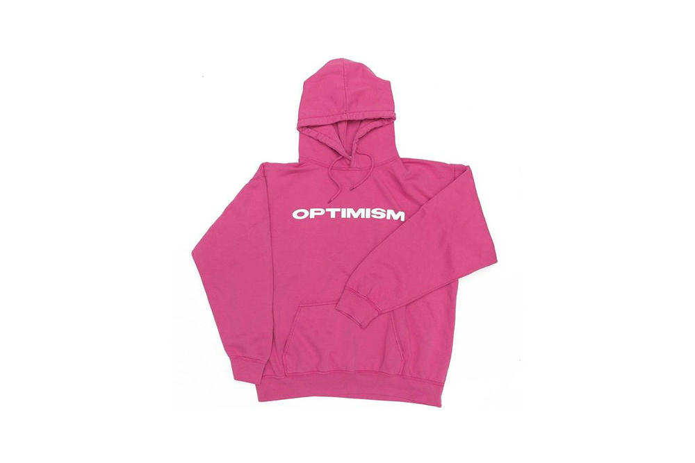 Emily Oberg Sporty & Rich OPTIMISM Hoodie Pink