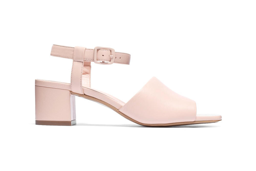 Everlane Block Heel Sandal Pale Rose