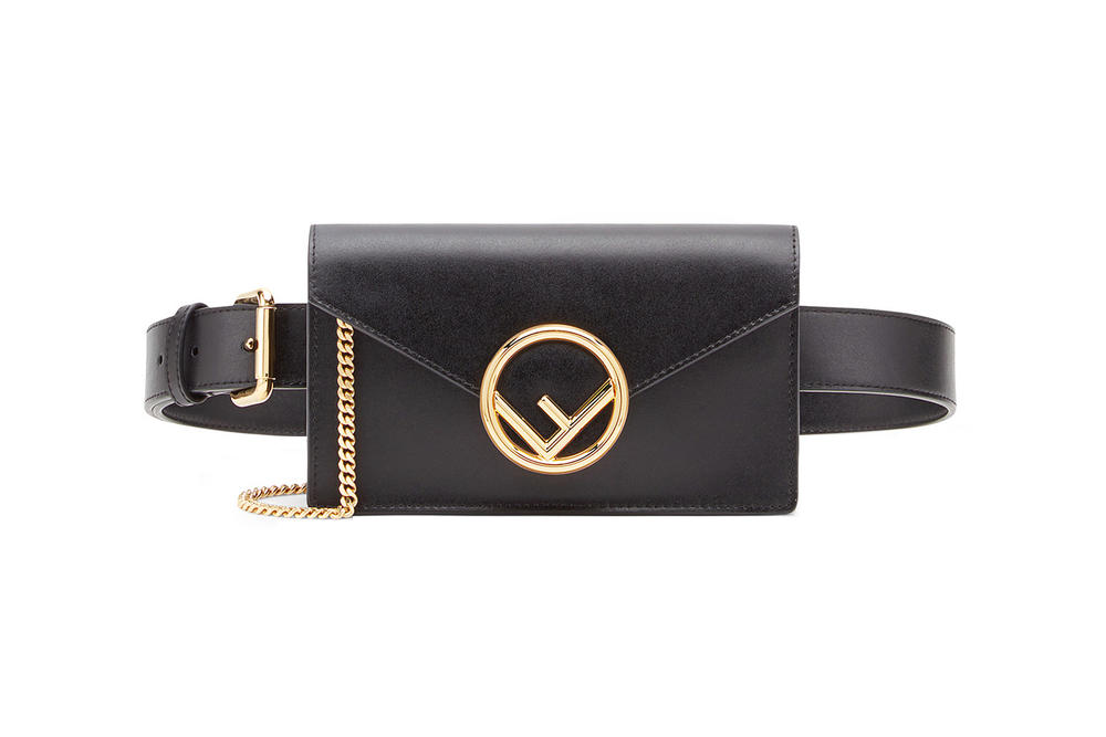 Fendi Leather Belt Bag Black