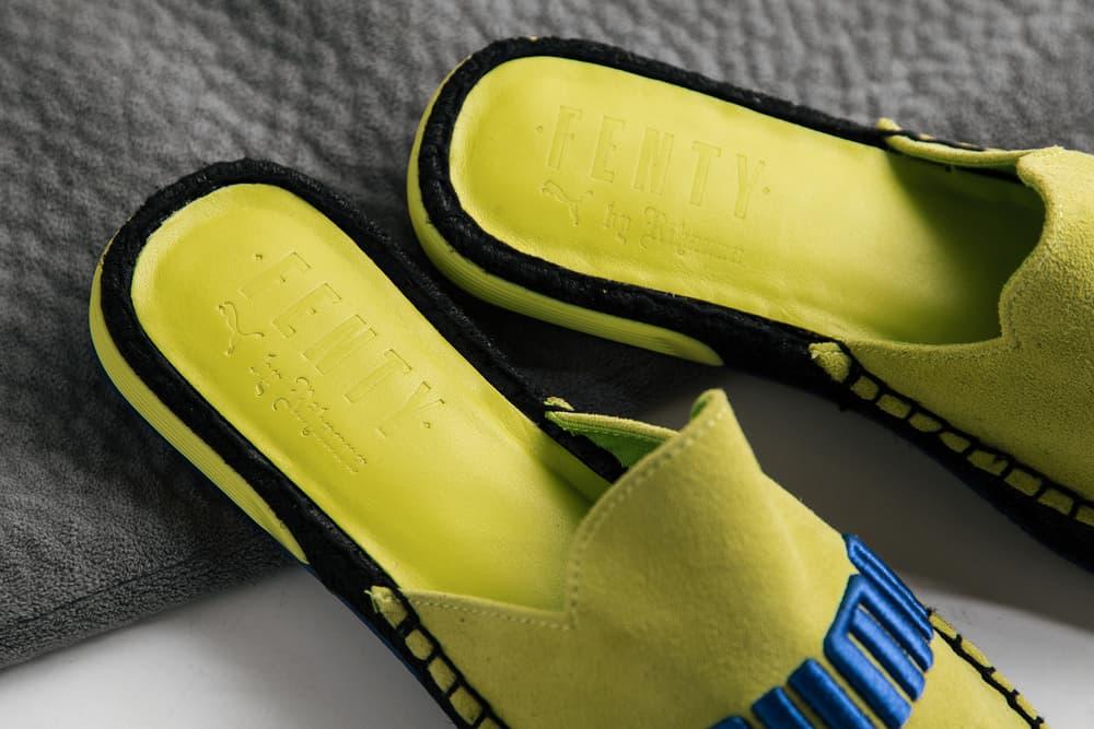 Cop Fenty x PUMA's Summer-Ready Espadrilles Sandals Shoes Rihanna Black Grey Yellow Turquoise
