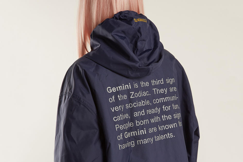 Vetements Gemini Raincoat Zodiac Sign Horoscope Definition Blue