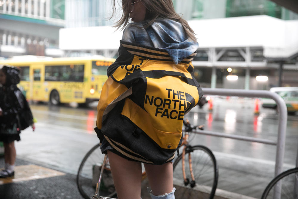 Gen Z Yellow The North Face Jacket Fashion Week Tokyo Street Style