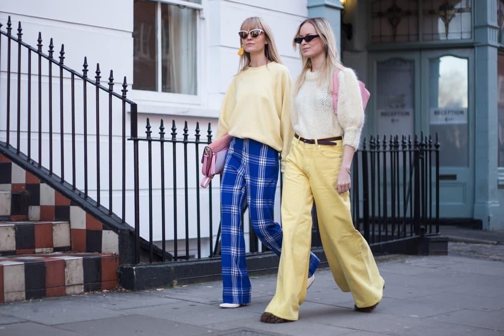 Gen Z Yellow Outfits Pants Top Fashion Week Street Style