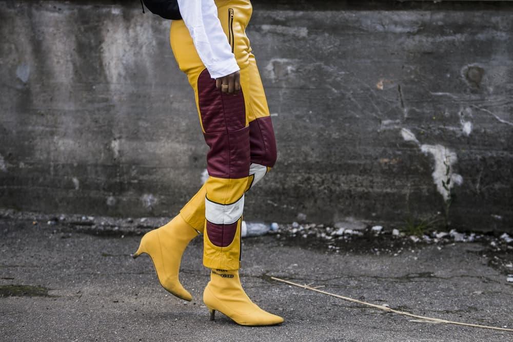 Gen Z Yellow Motocross Pants Boots Street Style Fashion Week